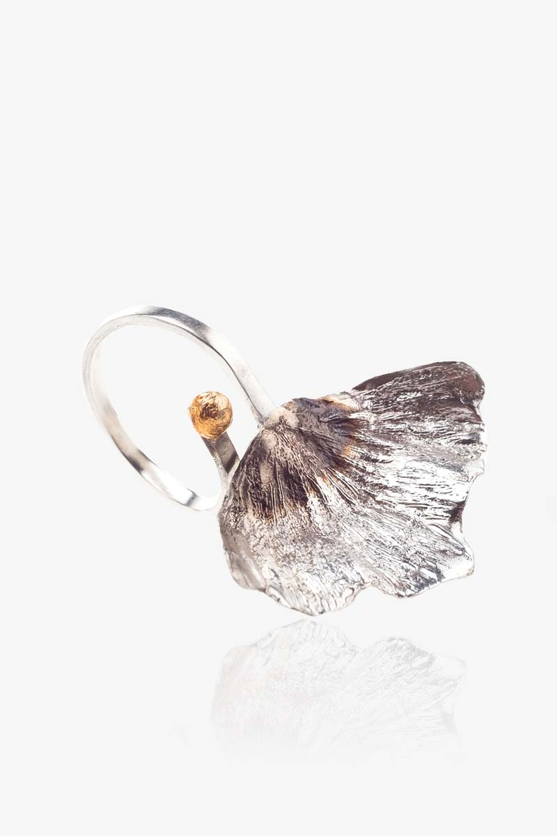 Flower Gingko Ring
